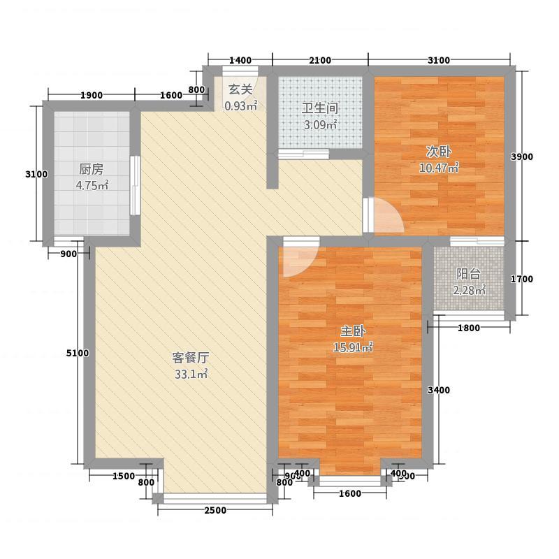 汇龙新岸公寓101182-2户型