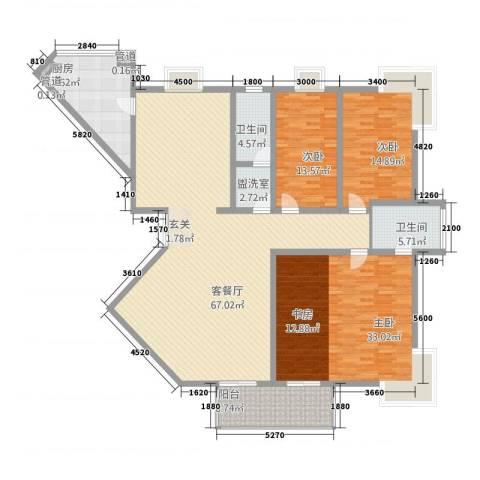 TOP世界观3室2厅2卫1厨225.00㎡户型图