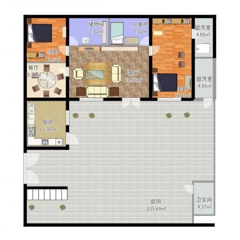 太阳城绿萱园3室4厅1卫1厨335.00㎡户型图