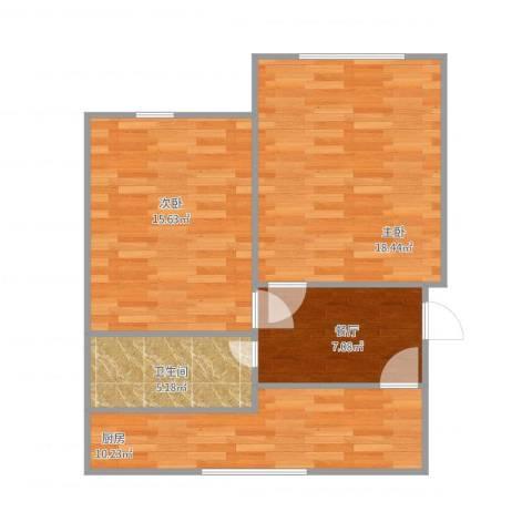 东五小区2室1厅1卫1厨76.00㎡户型图
