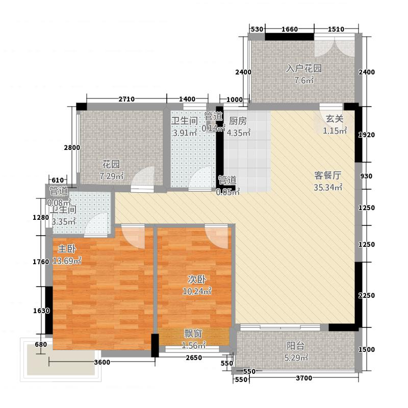 富盈公馆100.00㎡富盈公馆户型图15栋04户型3室2厅2卫1厨户型3室2厅2卫1厨