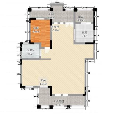 岷山拾阶公馆1室1厅1卫1厨223.00㎡户型图