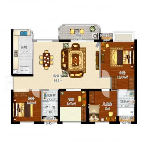 润和之悦4室2厅5卫1厨145.00㎡户型图
