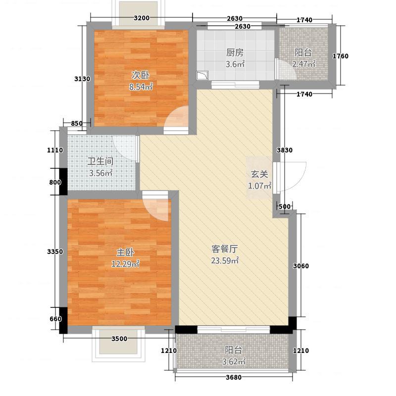 田润小区83.70㎡B户型