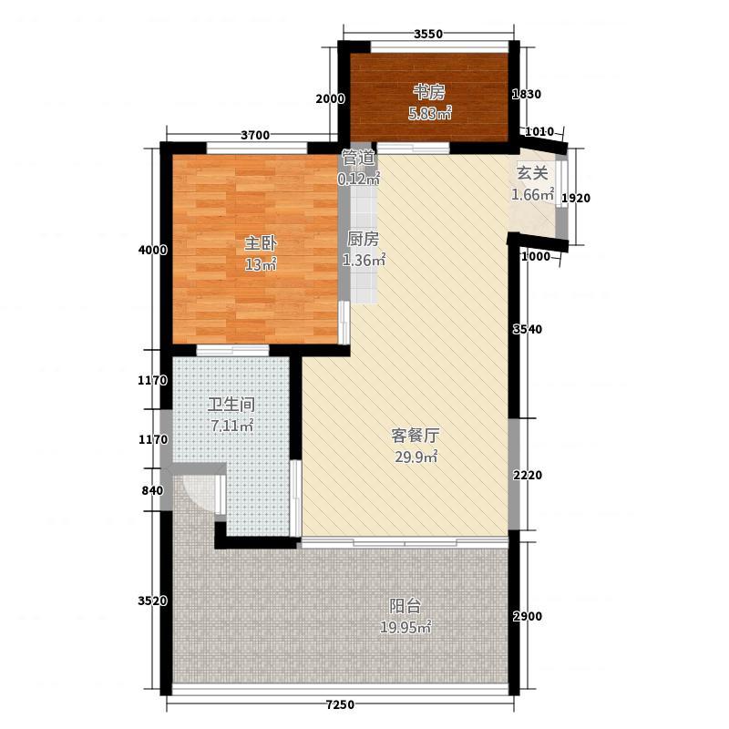 蓝空公寓户型