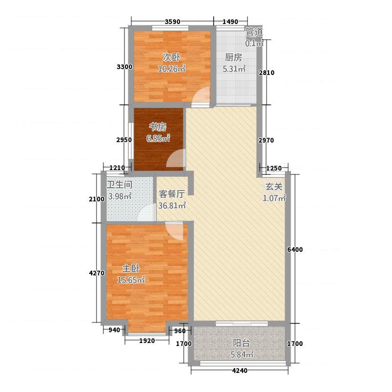 金世・现代城16.70㎡xdch4户型2室2厅1卫1厨