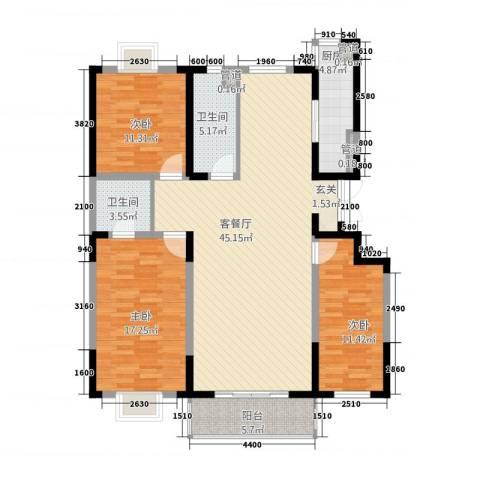 天成郡府3室1厅2卫1厨149.00㎡户型图