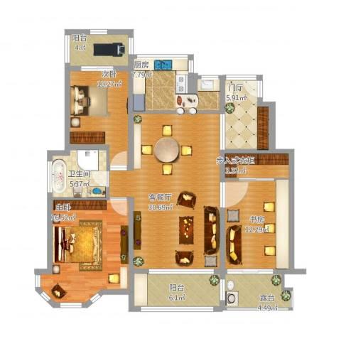 万悦城3室1厅1卫1厨153.00㎡户型图