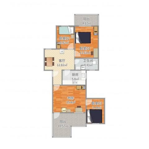 长福花园1栋2单元4041室1厅1卫1厨109.00㎡户型图