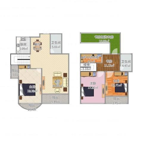 泊林公寓4室1厅2卫1厨196.00㎡户型图