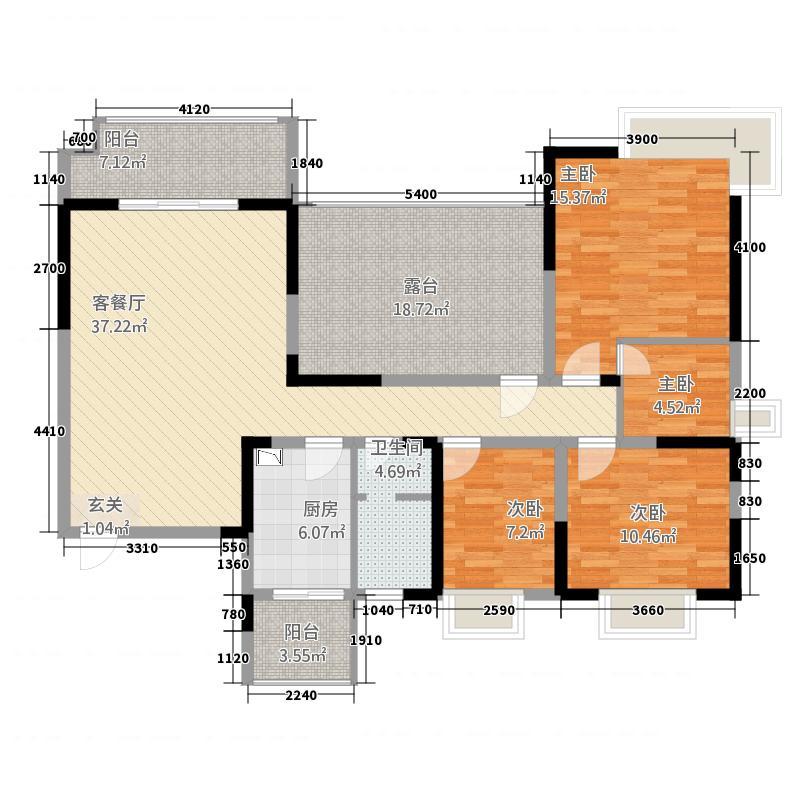 棕榈湾户型3室