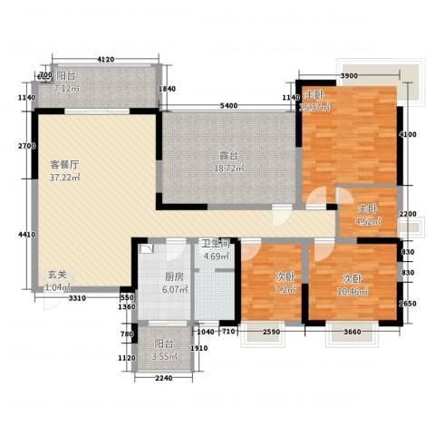 棕榈湾4室1厅1卫1厨164.00㎡户型图