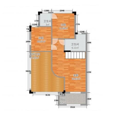 流溪河山庄3室0厅2卫0厨117.00㎡户型图