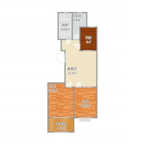 浪琴湾1073室1厅1卫1厨91.00㎡户型图