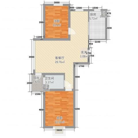 利源幸福�2室1厅1卫1厨85.00㎡户型图