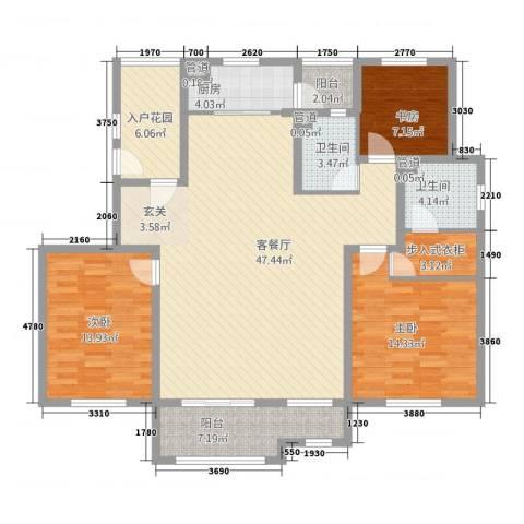龙湖滟澜山3室1厅2卫1厨171.00㎡户型图