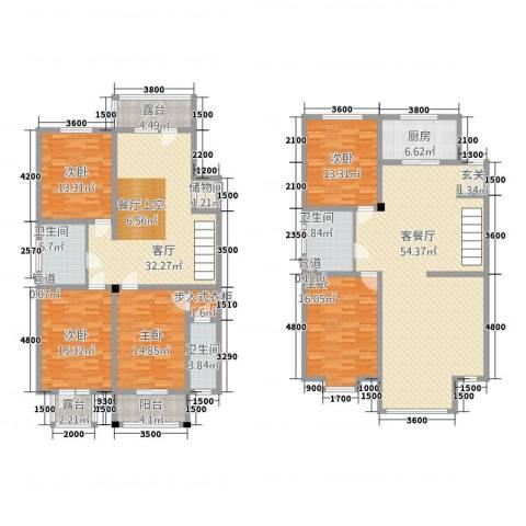 利源幸福�5室2厅3卫1厨234.00㎡户型图