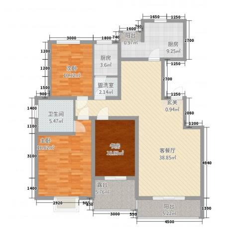 春城国际3室2厅1卫2厨1353145.00㎡户型图