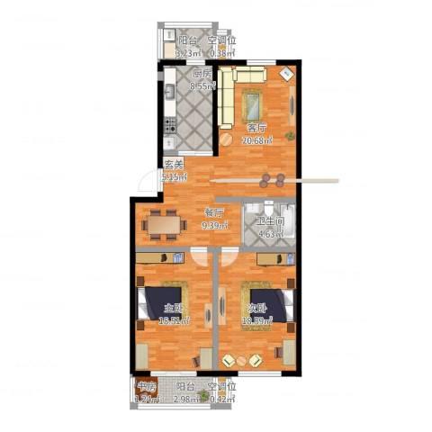 悦盛园2室1厅1卫1厨134.00㎡户型图