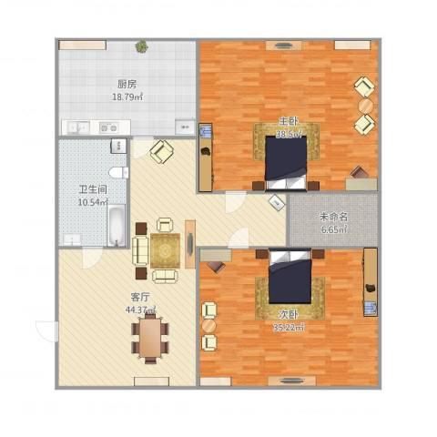 三八广场2室1厅1卫1厨202.00㎡户型图