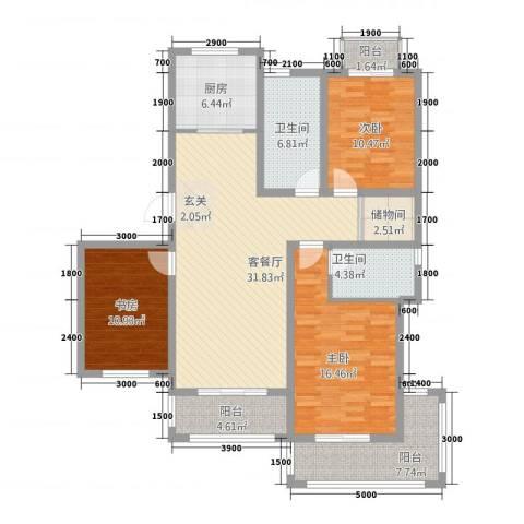 映象西班牙3室1厅2卫1厨150.00㎡户型图