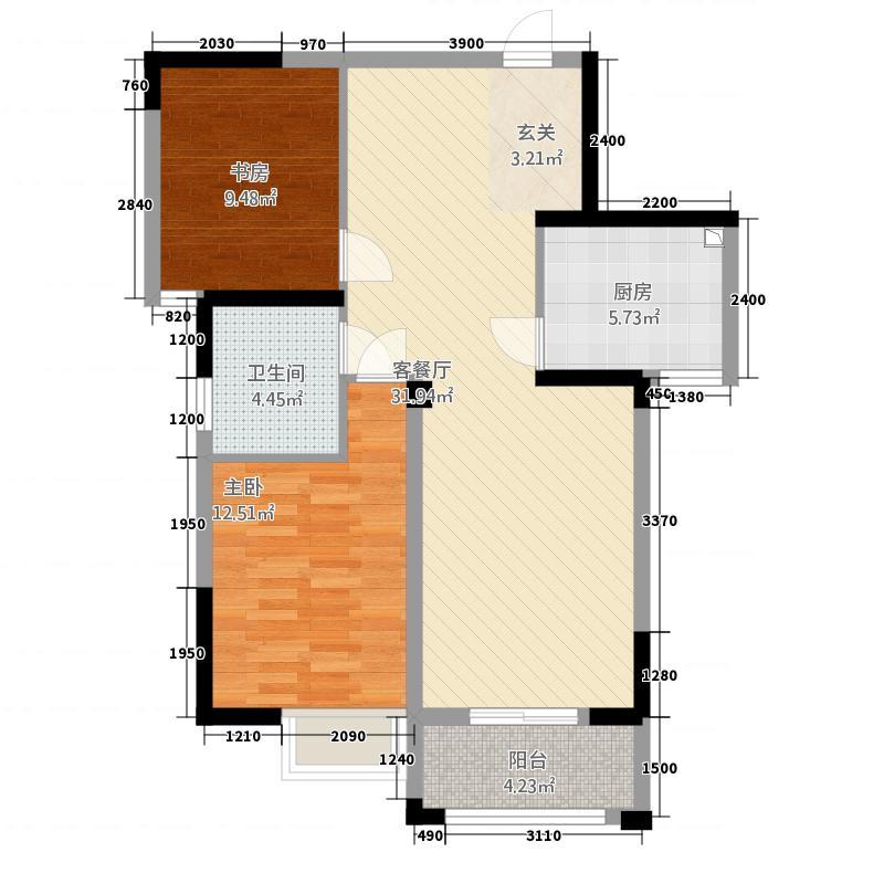 九龙湾42228.51㎡C户型2室2厅2卫1厨