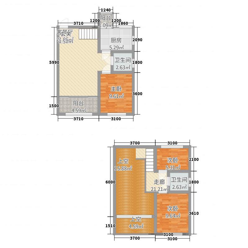 金澜半岛123.74㎡7#楼户型3室2厅2卫1厨