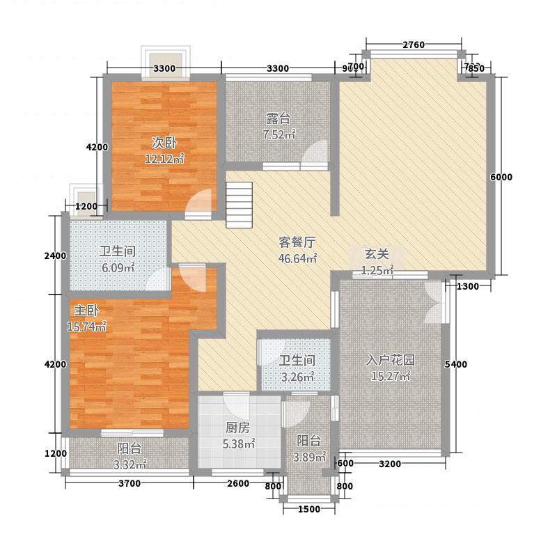 春语花间183.60㎡户型4室3厅3卫1厨