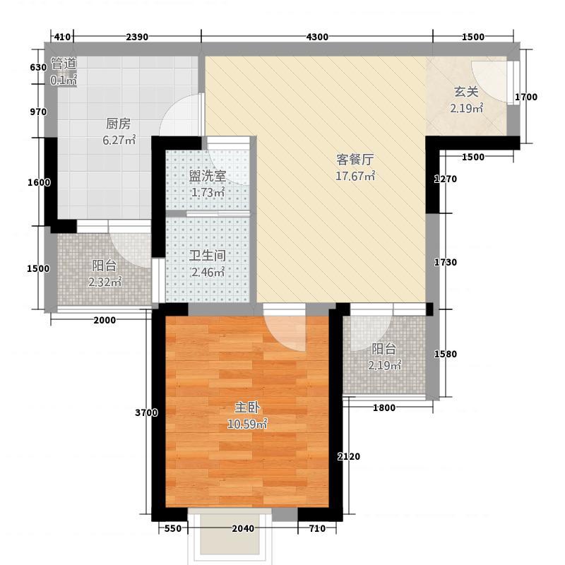 白银山世纪公园户型1室