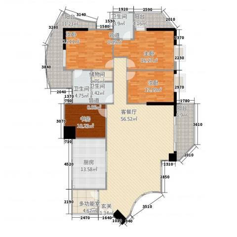国源滨北国际(集友广场)4室1厅3卫1厨227.00㎡户型图