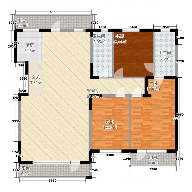 畜牧路广发花园134.00㎡户型3室