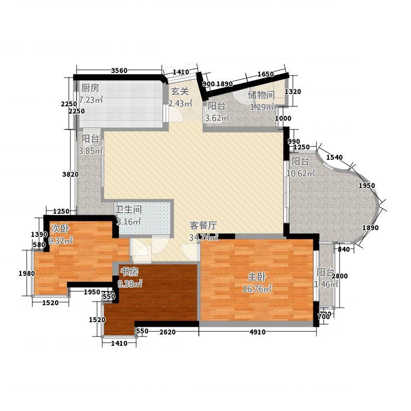 珍奇景苑4户型5室2厅2卫1厨