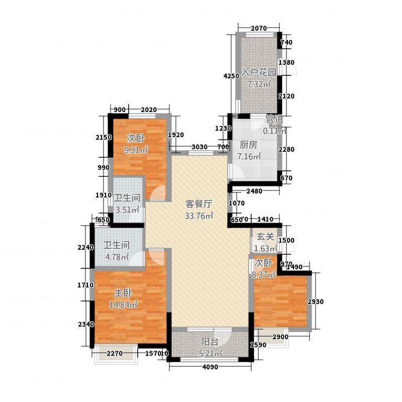 黄石万达广场23138.20㎡e户型3室2厅2卫