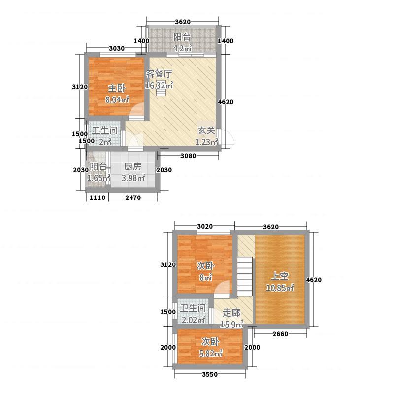 金澜半岛6.37㎡5#楼户型3室2厅2卫1厨