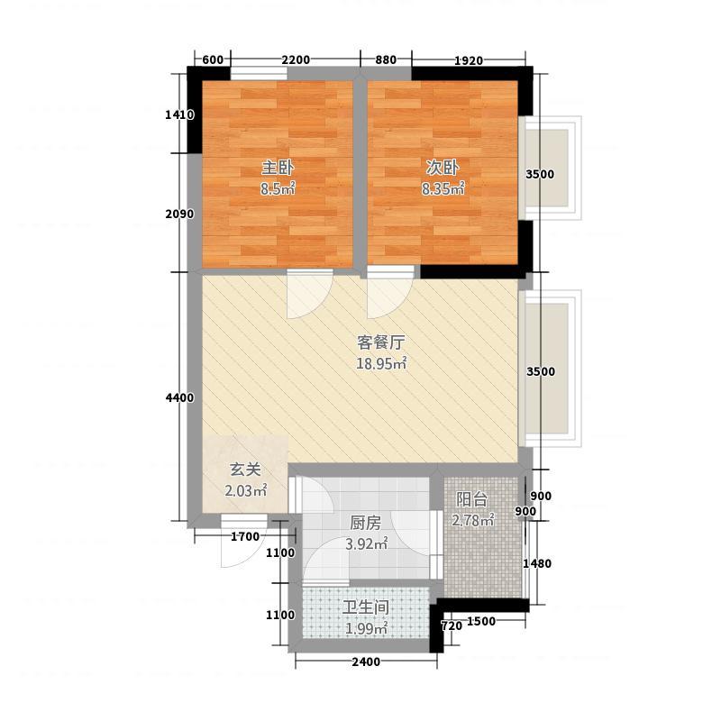 临园大厦65.00㎡户型2室