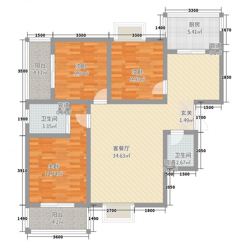 五桥幸福城五桥幸福城户型图B户型图3室2厅2卫1厨户型3室2厅2卫1厨