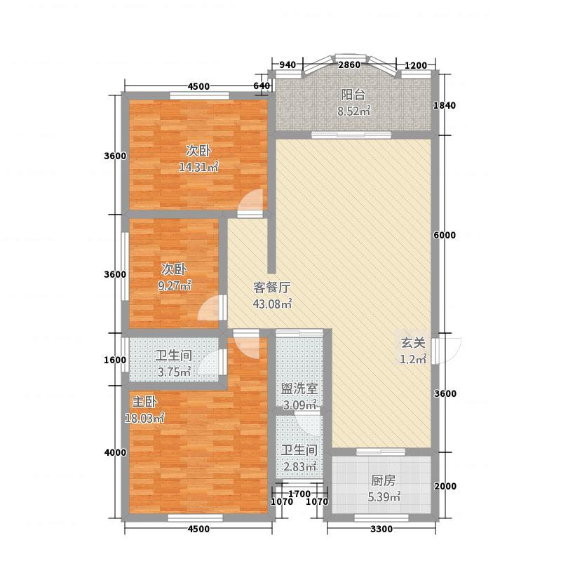 华太小区142.20㎡1#楼A1户型