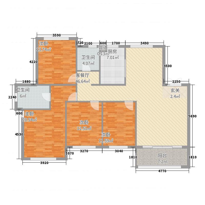C1四室两厅两卫177.95㎡