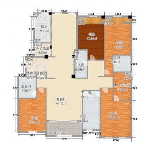 绿城玉兰花园・御园4室1厅4卫1厨330.00㎡户型图
