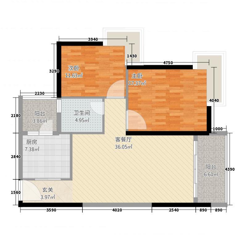 英协大厦123.00㎡户型2室