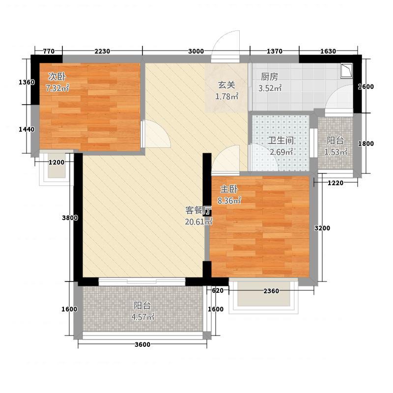 依迪公寓66.00㎡户型2室