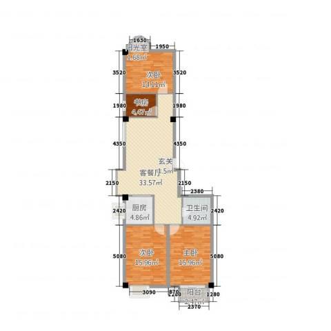 东方曼哈顿大厦4室1厅1卫1厨134.00㎡户型图