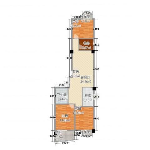 东方曼哈顿大厦4室1厅1卫1厨141.00㎡户型图