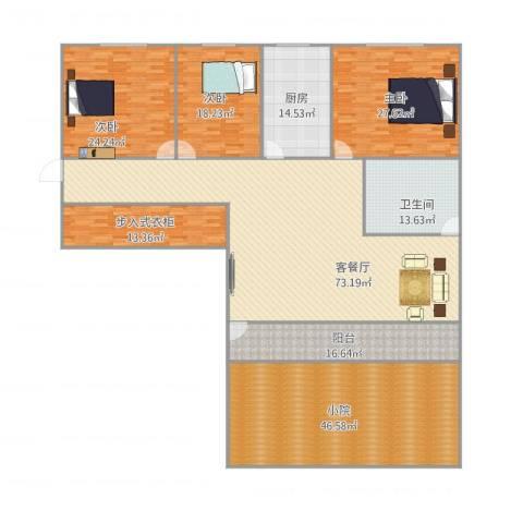 新天地小区3室1厅1卫1厨326.00㎡户型图