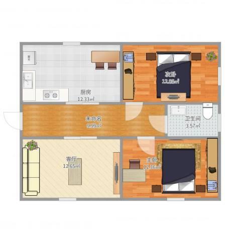 芦席营小区2室1厅1卫1厨85.00㎡户型图