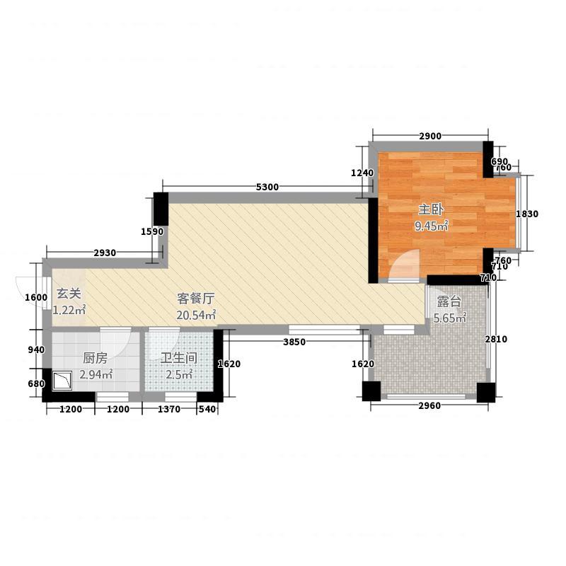 燕南路88号二期2户型1室2厅1卫