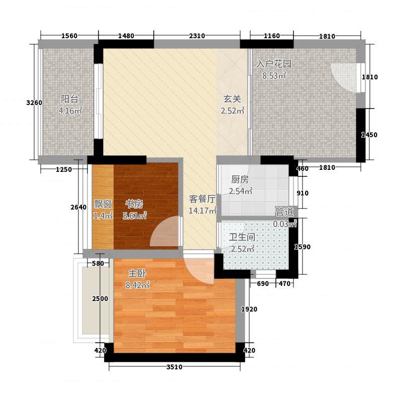 红荔村67.00㎡户型2室