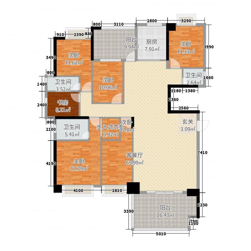国际商品城三期尚东一品北区6栋01单元、7栋04单元户型6室2厅3卫1厨
