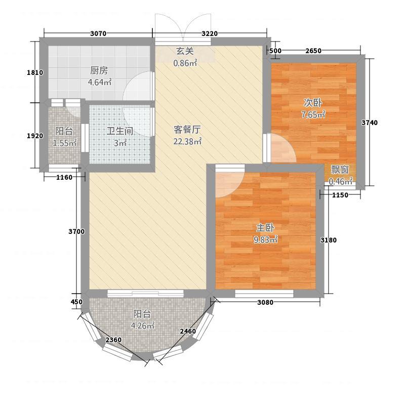 春晖路南纺机78.00㎡小区户型2室