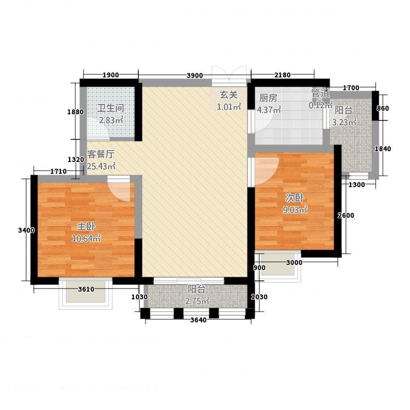 邮政家属院80.00㎡邮政家属院2室户型2室